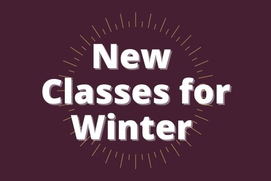 Text only: New Classes for Winter