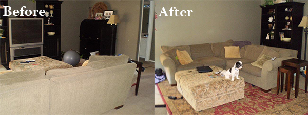 Heather's Couch: Before and After